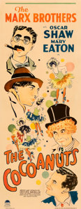 "Movie Posters:Comedy, The Cocoanuts (Paramount, 1929). Very Good on Paper. Insert (14"" X 36"").. ..."