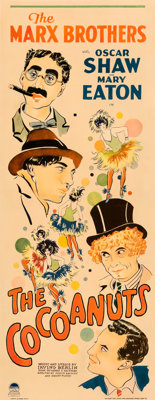 "The Cocoanuts (Paramount, 1929). Very Good on Paper. Insert (14"" X 36"")"