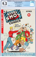 Golden Age (1938-1955):Miscellaneous, Big Shot Comics #28 Mile High Pedigree (Columbia, 1942) CGC Conserved NM- 9.2 Off-white pages....