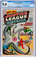 Silver Age (1956-1969):Superhero, The Brave and the Bold #28 Justice League of America (DC, 1960) CGC VF/NM 9.0 Off-white pages....