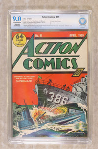 Action Comics #11 (DC, 1939) CGC Apparent SA VF/NM 9.0 Off-white to white pages