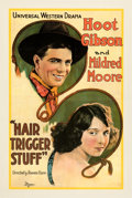 """Movie Posters:Western, Hair Trigger Stuff (Universal, 1920). Good/Very Good on Linen. One Sheet (28"""" X 42"""").. ..."""