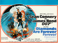 "Movie Posters:James Bond, Diamonds are Forever (United Artists, 1971). Very Fine+ on Linen. British Quad (30"" X 40"") Robert McGinnis Artwork.. ..."