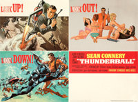"Thunderball (United Artists, 1965). Fine/Very Fine on Linen. American Full-Bleed Multi-Use Four-Unit Display (30"" X..."