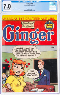 Ginger #1 (Archie, 1951) CGC FN/VF 7.0 Off-white to white pages