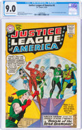 Silver Age (1956-1969):Superhero, Justice League of America #4 (DC, 1961) CGC VF/NM 9.0 Cream to off-white pages....