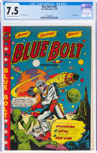 Blue Bolt #106 (Star Publications, 1950) CGC VF- 7.5 Off-white to white pages