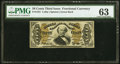 Fractional Currency:Third Issue, Fr. 1331 50¢ Third Issue Spinner PMG Choice Uncirculated 63.. ...