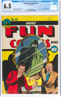 Golden Age (1938-1955):Superhero, More Fun Comics #65 (DC, 1941) CGC FN+ 6.5 Off-white to white pages....