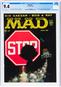 Magazines:Mad, MAD #47 (EC, 1959) CGC NM 9.4 White pages....