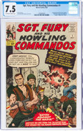 Silver Age (1956-1969):War, Sgt. Fury and His Howling Commandos #1 (Marvel, 1963) CGC VF- 7.5 Off-white to white pages....