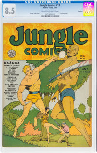 Jungle Comics #13 Rockford Pedigree (Fiction House, 1941) CGC VF+ 8.5 Cream to off-white pages