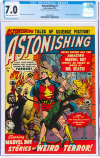 Astonishing #3 (Atlas, 1951) CGC FN/VF 7.0 Cream to off-white pages