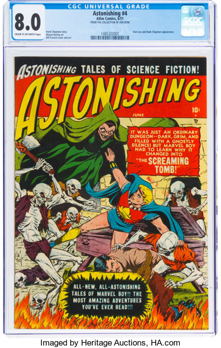 Astonishing #4 (Atlas, 1951) CGC VF 8.0 Cream to off-white pages....