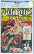 Golden Age (1938-1955):Adventure, Jungle Comics #1 (Fiction House, 1940) CGC VF 8.0 Off-white to white pages....