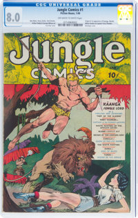 Jungle Comics #1 (Fiction House, 1940) CGC VF 8.0 Off-white to white pages