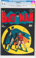 Golden Age (1938-1955):Superhero, Batman #9 (DC, 1942) CGC NM 9.4 Off-white pages....