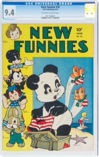 New Funnies #76 (Dell, 1943) CGC NM 9.4 Off-white to white pages