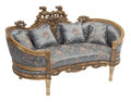 Furniture, A French-Style Carved Wood and Gilt Kidney-Shaped Settee. 36 x 62-1/2 x 34 inches (91.4 x 158.8 x 86.4 cm). ...