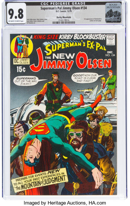 Superman's Pal Jimmy Olsen #134 Rocky Mountain Pedigree (DC, 1970) CGC NM/MT 9.8 Off-white to white pages....