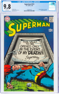 Superman #213 (DC, 1969) CGC NM/MT 9.8 White pages