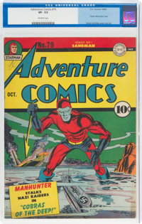 Adventure Comics #79 (DC, 1942) CGC VF- 7.5 Off-white pages