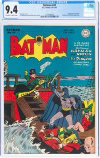 Batman #43 (DC, 1947) CGC NM 9.4 Off-white to white pages