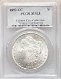 Morgan Dollars: , 1890-CC $1 MS63 PCGS. Ex: Carson City Collection. PCGS Population: (3957/2796). NGC Census: (1660/1072). CDN: $800 Whsle. B...