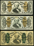 Fractional Currency:Third Issue, Fr. 1341 50¢ Third Issue Spinner Type II Extremely Fine-About New;. Fr. 1342 50¢ Third Issue Spinner Type II Fine-Very Fin... (Total: 3 notes)
