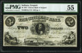 Obsoletes By State:Indiana, Gosport, IN- Citizens Bank of Gosport $2 July 1, 1857 G4a PMG About Uncirculated 55.. ...