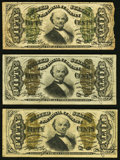 Fractional Currency:Third Issue, Fr. 1331 50¢ Third Issue Spinner Fine;. Fr. 1335 50¢ Third Issue Spinner Fine;. Fr. 1339 50¢ Third Issue Justice Very ... (Total: 3 notes)