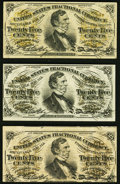 Fractional Currency:Third Issue, Fr. 1294 25¢ Third Issue (2) Very Fine;. Fr. 1295 25¢ Third Issue Fine.. ... (Total: 3 notes)