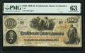 Confederate Notes:1862 Issues, T41 $100 1862 PF-12 Cr. 317A PMG Choice Uncirculated 63.. ...