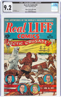 Real Life Comics #32 Mile High Pedigree (Nedor Publications, 1946) CGC NM- 9.2 Off-white to white pages