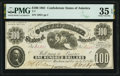 Confederate Notes:1861 Issues, T7 $100 1861 PF-4 Cr. 11 PMG Choice Very Fine 35 EPQ.. ...