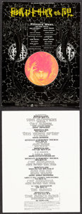 """Movie Posters:Rock and Roll, Iron Butterfly at Fillmore West & Other Lot (Bill Graham, 1970). Very Fine+. Concert Postcards (2) (7"""" X 9.25"""" & 7"""" X 9"""") Al... (Total: 2 Items)"""