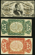 Fractional Currency:Third Issue, Fr. 1291SP/1294SP 25¢ Third Issue Narrow Margin Set About New.. ... (Total: 3 notes)