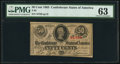 Confederate Notes:1863 Issues, T63 50 Cents 1863 PF-8 Cr. 487 PMG Choice Uncirculated 63.. ...