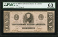 Confederate Notes:1862 Issues, T55 $1 1862 PF-2 Cr. 397 PMG Choice Uncirculated 63.. ...