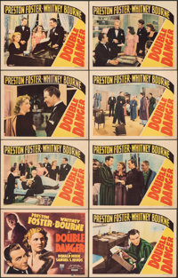 "Double Danger (RKO, 1938). Fine+. Lobby Card Set of 8 (11"" X 14""). Documentary. ... (Total: 8 Items)"