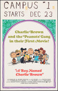 """Movie Posters:Animation, A Boy Named Charlie Brown (National General, 1969). Very Fine-. Window Card (14"""" X 22"""") Charles Schulz Artwork. Animation.. ..."""