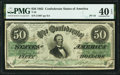 Confederate Notes:1862 Issues, T50 $50 1862 PF-19 Cr. 362 PMG Extremely Fine 40 EPQ.. ...