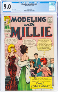 Modeling with Millie #35 (Marvel, 1964) CGC VF/NM 9.0 Off-white to white pages