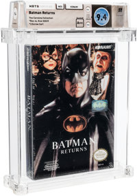 Batman Returns - Wata 9.4 A++ Sealed (Carolina Collection), NES Konami 1993 USA