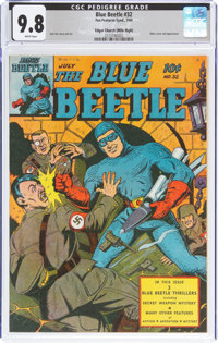 Blue Beetle #32 Mile High Pedigree (Fox Features Syndicate, 1944) CGC NM/MT 9.8 White pages