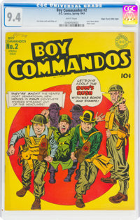 Boy Commandos #2 Mile High Pedigree (DC, 1943) CGC NM 9.4 White pages