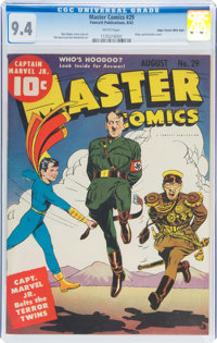 Master Comics #29 Mile High Pedigree (Fawcett Publications, 1942) CGC NM 9.4 White pages