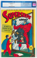 Golden Age (1938-1955):Superhero, Supersnipe Comics #9 Mile High Pedigree (Street & Smith, 1943) CGC NM 9.4 White pages....