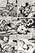 Original Comic Art, Jack Kirby and Mike Royer Black Panther #2 Story Page 14 Original Art (Marvel, 1977)....
