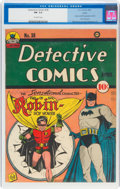 Golden Age (1938-1955):Superhero, Detective Comics #38 Larson Pedigree (DC, 1940) CGC FN- 5.5 Off-white pages....